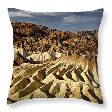 Zabriskie Point Panorama Throw Pillow