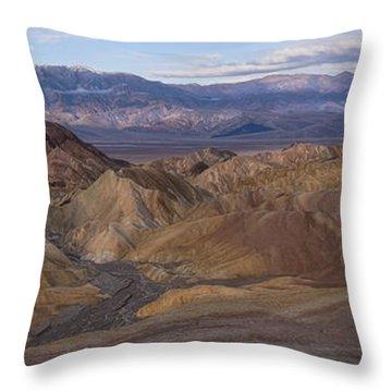 Zabriskie Point Sunrise - Death Valley National Park Throw Pillow by Sandra Bronstein