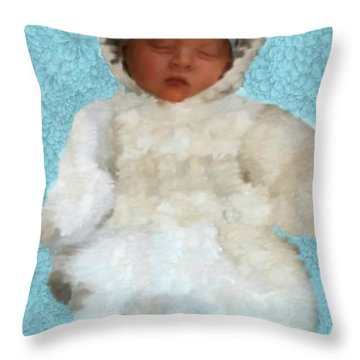 Throw Pillow featuring the painting Zachary by Bruce Nutting