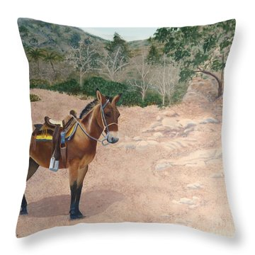 Zachary The Mule Throw Pillow