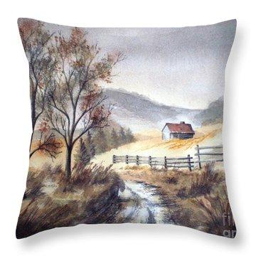 Zagorski Puteljak Throw Pillow by Eleonora Perlic