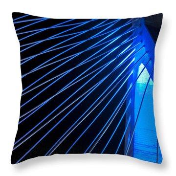 Zakim In Blue - Boston Throw Pillow by Joann Vitali