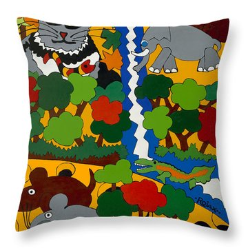 Zane Grey In Africa Throw Pillow