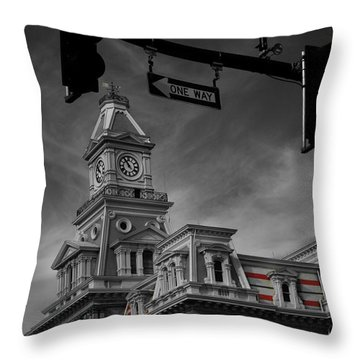 Zanesville Oh Courthouse Throw Pillow