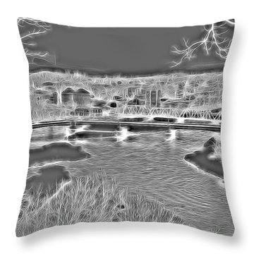 Zanesville Ohio Ybridge Throw Pillow