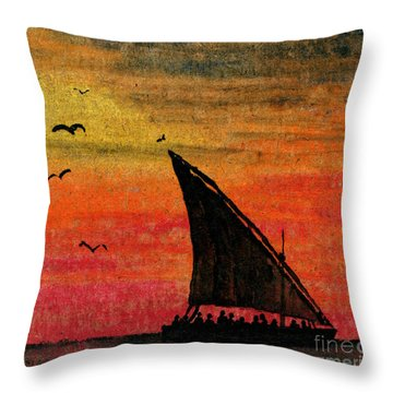 Zanzibar Rapid Transport Throw Pillow