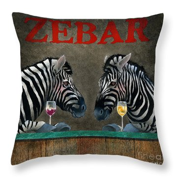 Zebar... Throw Pillow by Will Bullas