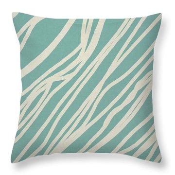 Zebra Throw Pillow by Aged Pixel