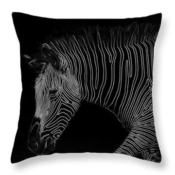 Zebra Art Throw Pillow by Bianca Nadeau