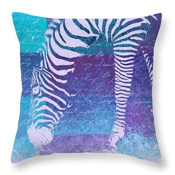 Zebra Art - Bp02t01 Throw Pillow