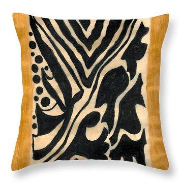 Zebra Throw Pillow by Carla Sa Fernandes