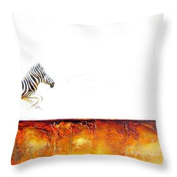 Zebra Crossing - Original Artwork Throw Pillow