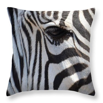 Zebra Eye Abstract Throw Pillow