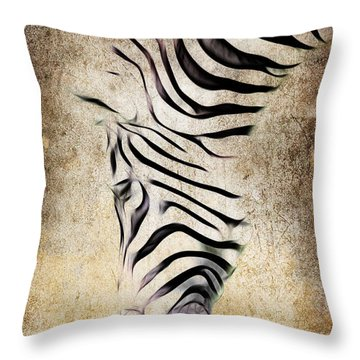 Zebra Fade Throw Pillow by Steve McKinzie