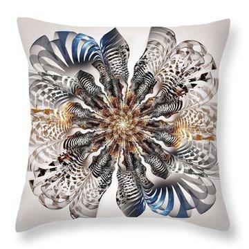Zebra Flower Throw Pillow by Anastasiya Malakhova