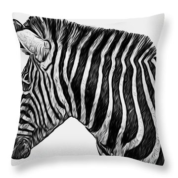 Zebra - Happened At The Zoo Throw Pillow by Jack Zulli