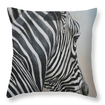 Zebra Look Throw Pillow