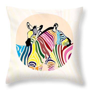 Zebra  Throw Pillow by Mark Ashkenazi