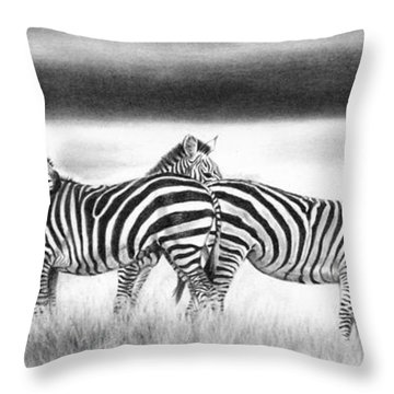 Zebra Panarama Throw Pillow
