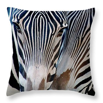 Zebra Pattern Throw Pillow by Sue Cullumber