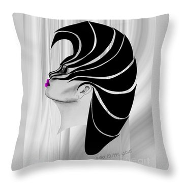 Zebra Punk Throw Pillow