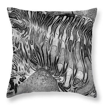Zebra - Rainy Day Series Throw Pillow by Jack Zulli