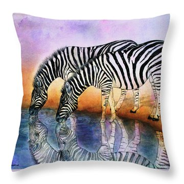 Zebra Reflections Throw Pillow