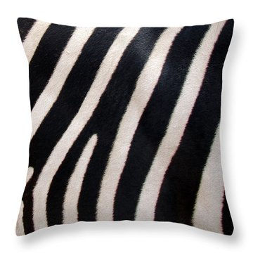 Throw Pillow featuring the photograph Zebra Stripes by Ramona Johnston