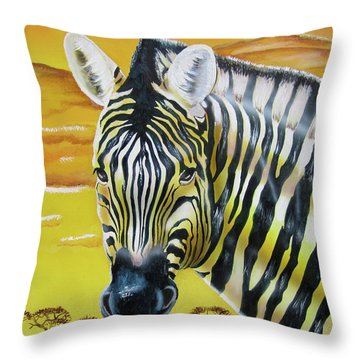 Throw Pillow featuring the painting As Day As Night by Thomas J Herring