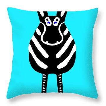 Zebra - The Front View Throw Pillow