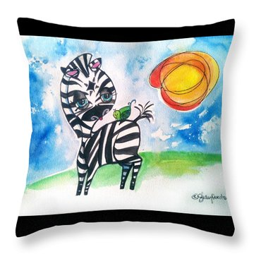 Zebra Zee  Throw Pillow