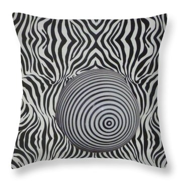 Zebraball Throw Pillow by Douglas Fromm