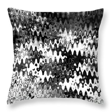 Throw Pillow featuring the digital art Zebras by Anita Lewis