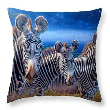 Zebras Throw Pillow by Hans Droog