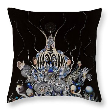 Zebratiki Throw Pillow by Douglas Fromm