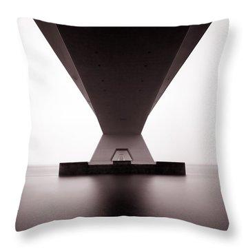 Zeelandbrug 1 Throw Pillow by Dave Bowman