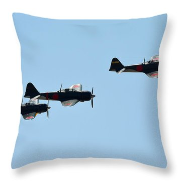 Zeke Fighter Throw Pillow by Camille Lopez