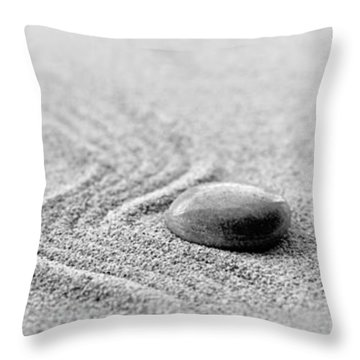 Zen Black And White Triptych Throw Pillow