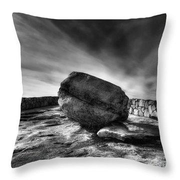 Zen Black White Throw Pillow