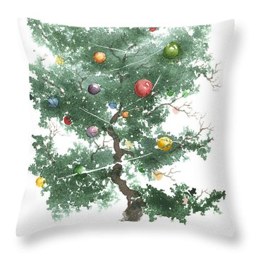 Zen Christmas Tree Throw Pillow