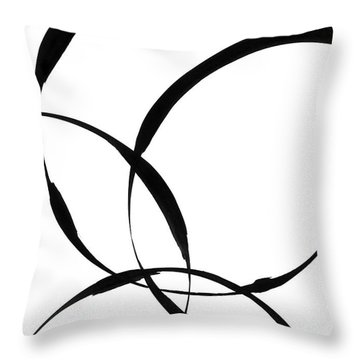 Zen Circles 2 Throw Pillow by Hakon Soreide