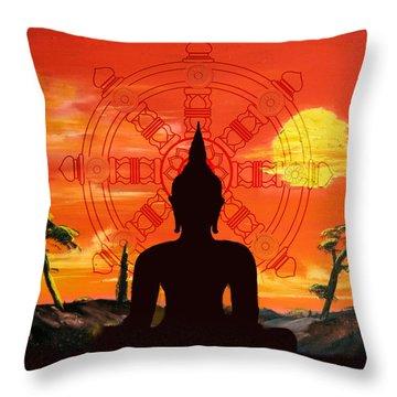 Zen Throw Pillow by Corporate Art Task Force