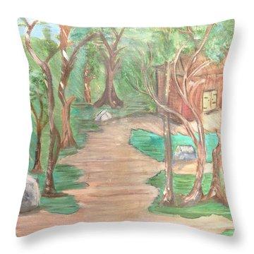 Zen House Throw Pillow