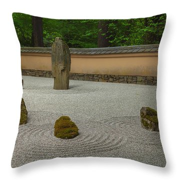 Zen Throw Pillow by Jacqui Boonstra