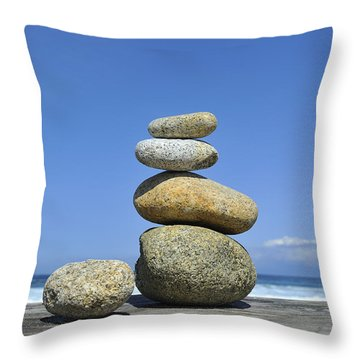 Throw Pillow featuring the photograph Zen Stones I by Marianne Campolongo