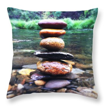 Zen Stones II Throw Pillow