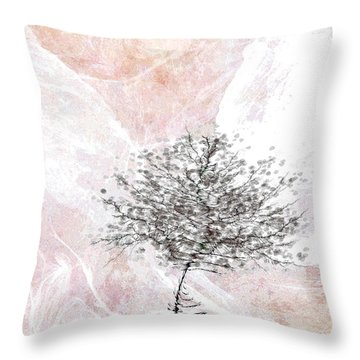 Zen Tree 2 Throw Pillow by Klara Acel