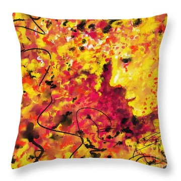 Throw Pillow featuring the painting Zenith In July by S G