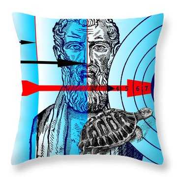 Zeno's Paradoxes Throw Pillow