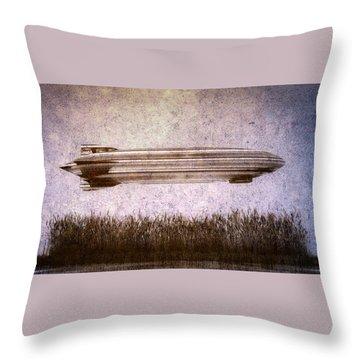 Zeppelin  Throw Pillow by Bob Orsillo